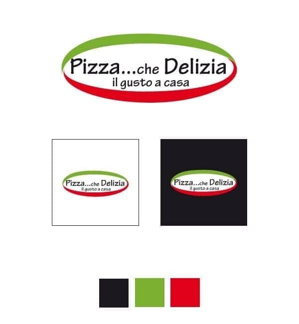 pizza che deliza studio logo
